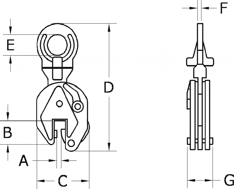 Plate Lifting Clamps Diagram